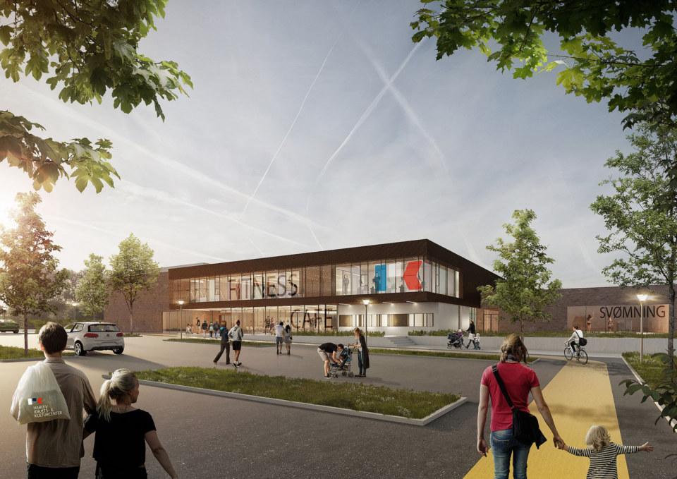 Erik-Nord-Arkitekt-Harlev-Idraets-Kulturcenter-visualisering-Aarhus
