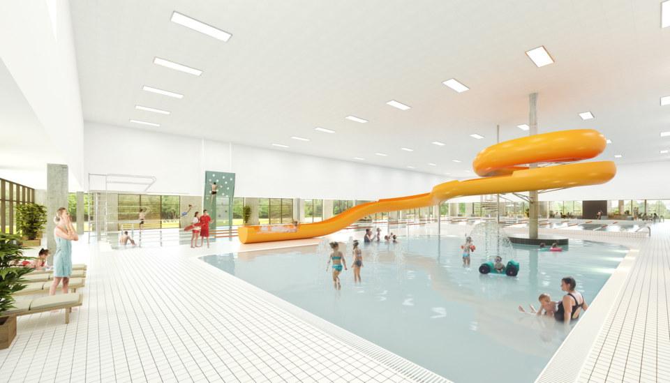 Erik-Nord-Arkitekt-Vestamager-Svømmehal-Tårnby-Kommune-Arkitekter-Arkitektkonkurrence-Morskabsbassin-Visualisering