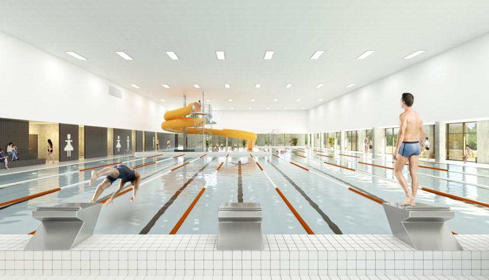Erik-Nord-Arkitekt-Vestamager-Svømmehal-Tårnby-Kommune-Arkitekter-Arkitektkonkurrence-bassinrummet-Visualisering