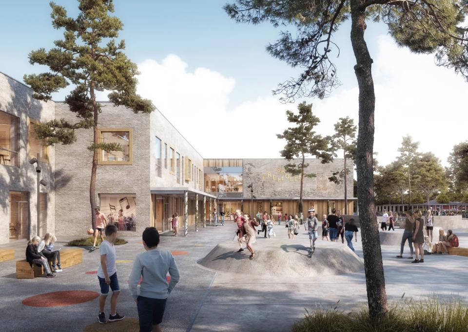 Erik-Nord-Arkitekt-Aarhus-Frelloskolen-3d-Visualisering-rendering-GPP-arkitekter-1
